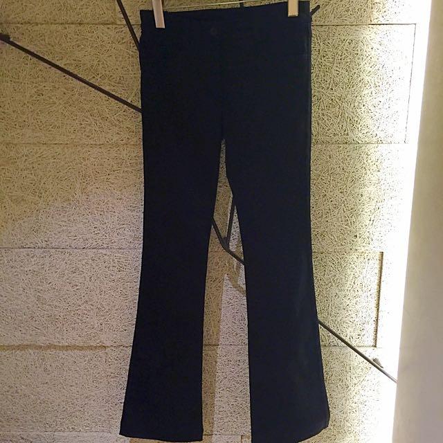 全新 黑色喇叭褲