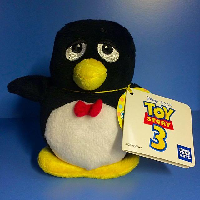 正版 Tomy 玩具總動員 企鵝吱吱 絨毛玩具