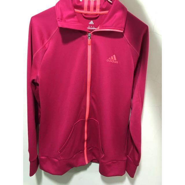 Adidas 桃紅色外套