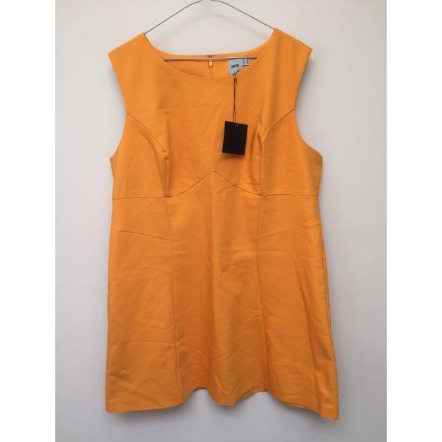 ASOS Mustard Dress Size 18
