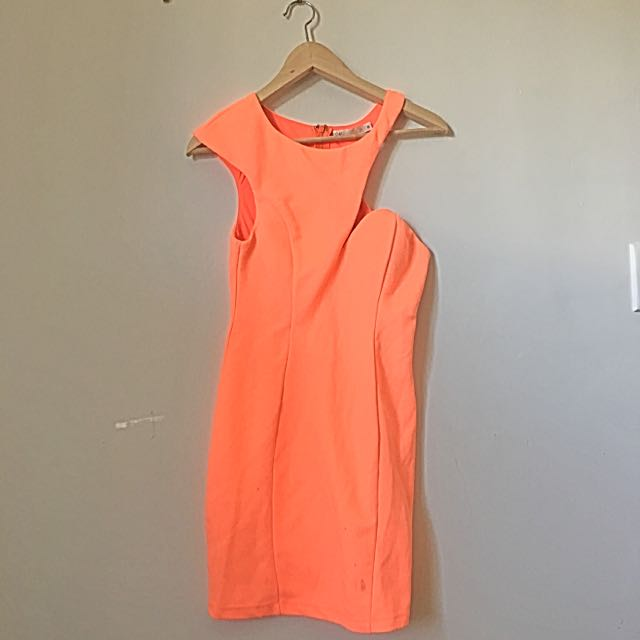 Blossom Orange Clubbing Dress Size 8