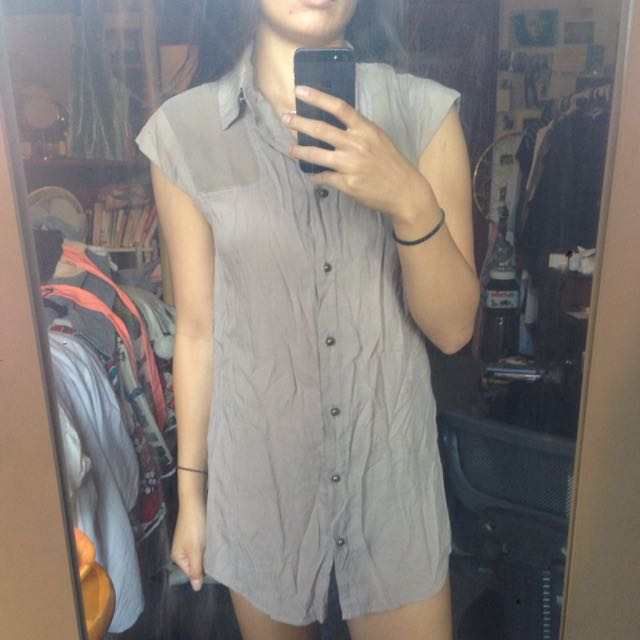 Button Up Tunic Size S