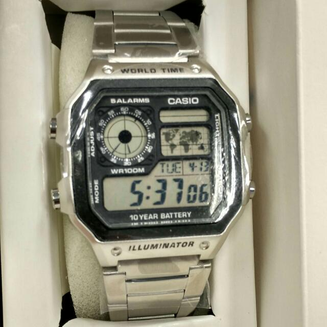 reserved casio royale ae1200   james bond style   world