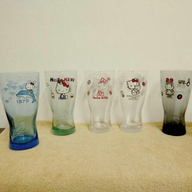 HELLO KITTY 40週年經典玻璃曲線杯