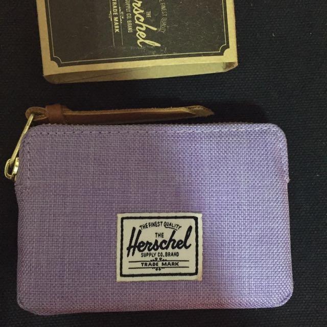 Herschel 正品 紫色零錢包