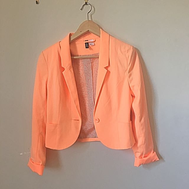 H&M Retro Orange Blazer EUR36