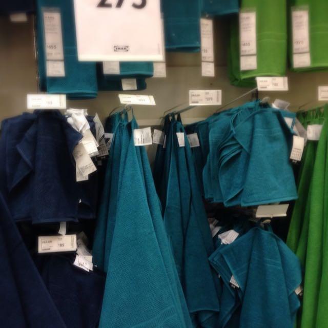Ikea全新 土耳其藍 浴巾