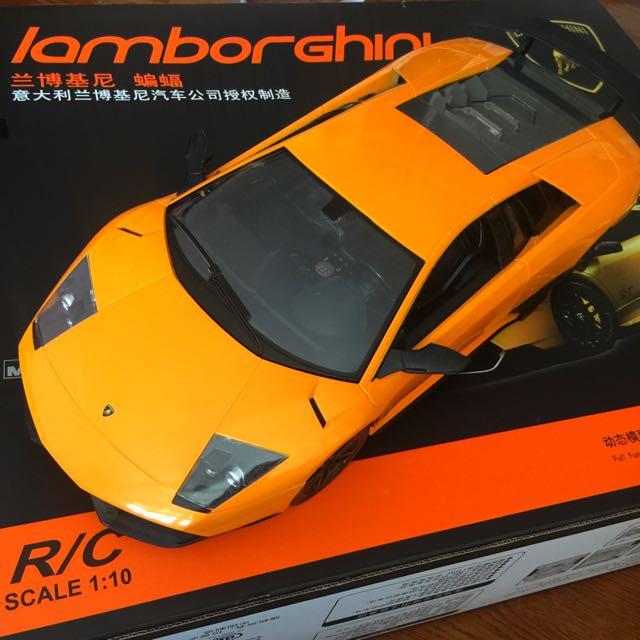 Lamborghini 藍寶堅尼 大牛 無線 遙控汽車 飽和橘