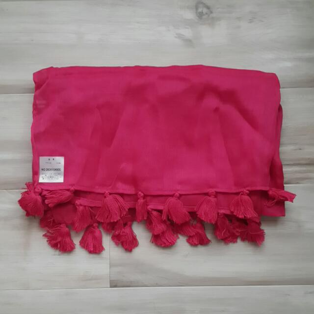 Le.coeur blank桃紅色圍巾