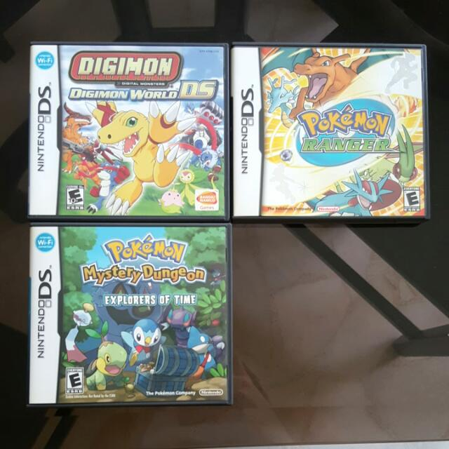 Nintendo DS Games Digimon World DS Pokemon Ranger Pokemin