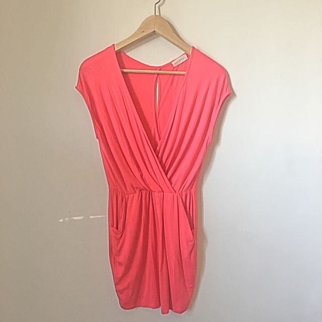 SOLEMIO Pink Pocket Dress S