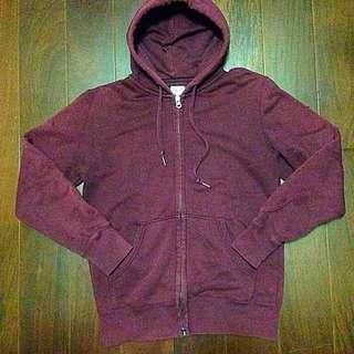 (保留中特價)UNIQLO酒紅色 復古 素面 外套