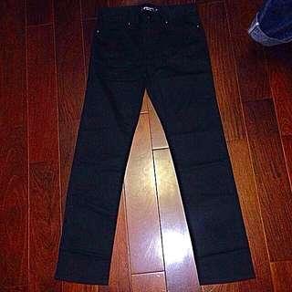 (特價)hangten 黑色 直筒 長褲