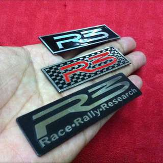 New Aluminium R3 Emblem Sticker