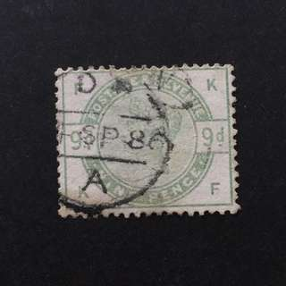 1883 GB QV 9d Stamp SG195wi