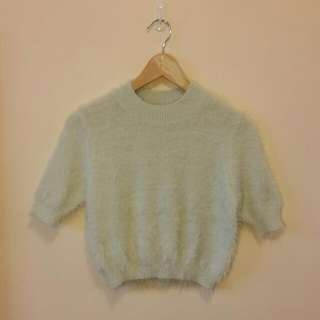 NEW Sheike Arctic Knit Crop Top In Mint Size S RRP $59.95