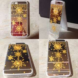 *PRICE REDUCED*Golden Snowflakes Phone Case