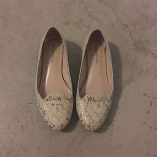 White With Pink Undertones flats