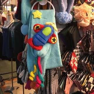 全新小朋友圍巾(飛機款)