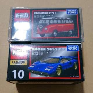 Tomica Volkswagen Lamborghini 福斯 藍保堅尼 黑盒 No.7 No.10