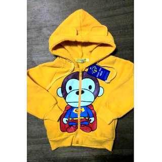 【全新含運】兒童  猴子超人裝刷毛外套