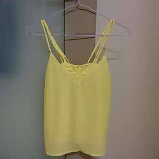 Purpur Pastel Yellow Double Spag Top