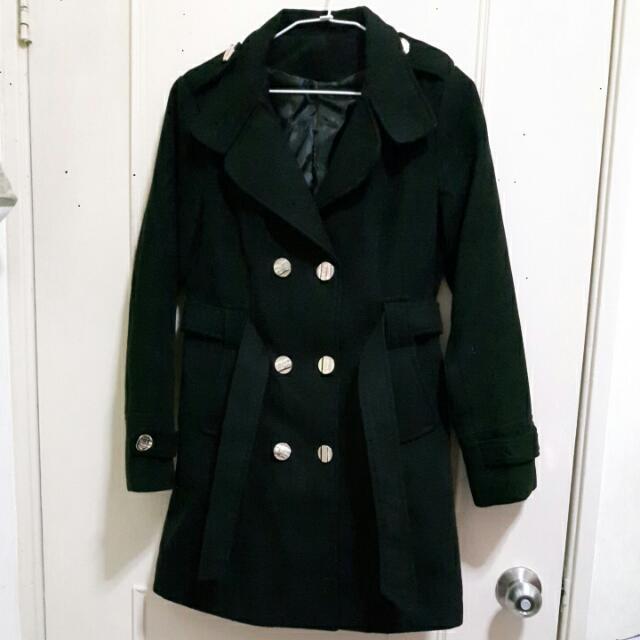 經典不敗款棉質毛呢大衣外套