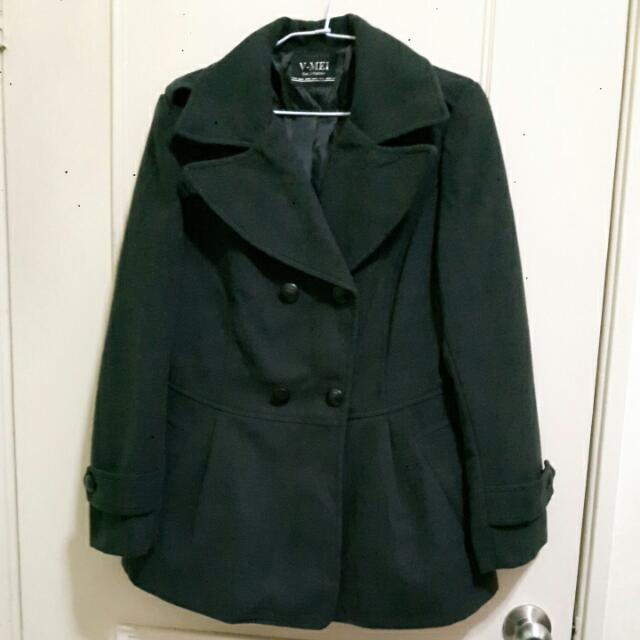 可愛風格棉質毛呢大衣外套