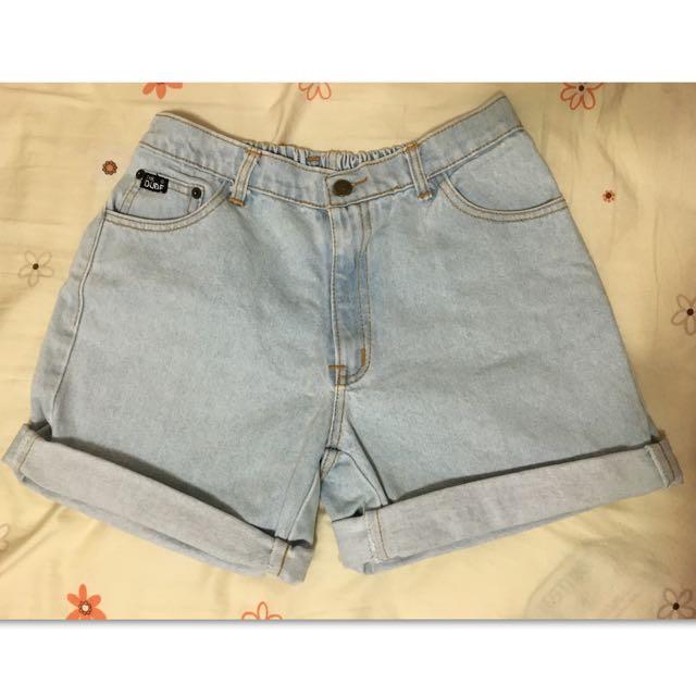 古著 厚磅牛仔短褲