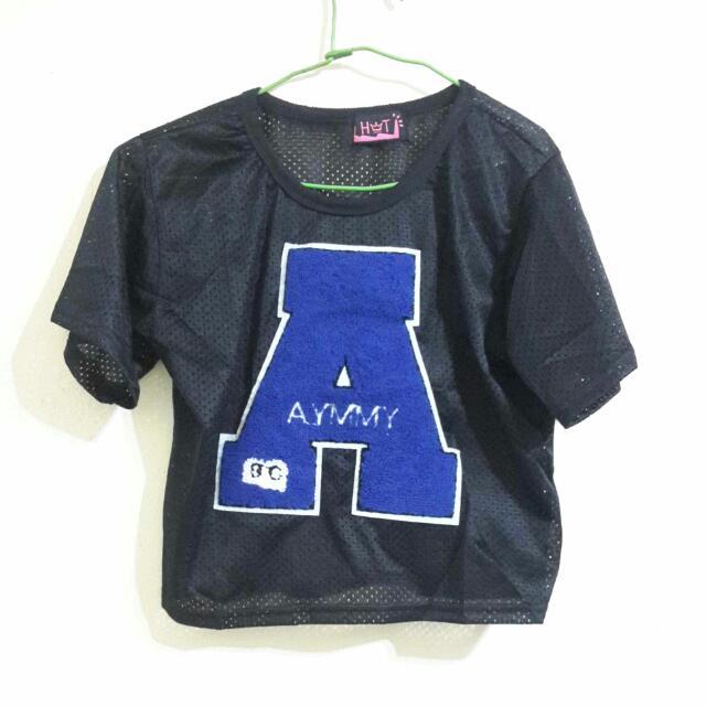 字母A短版球衣