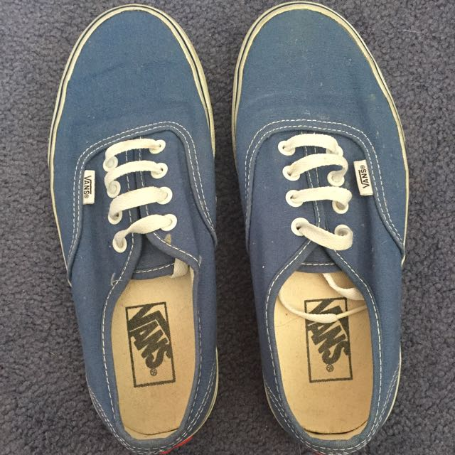 Authentic Blue Vans