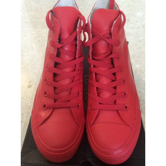 Converse Red Rubber Chuck Taylors (US