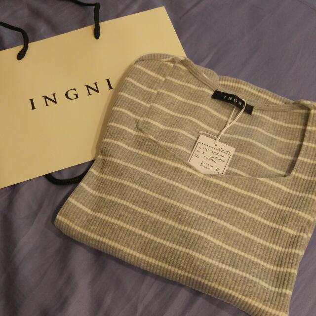 【全新】INGNI 日系服飾專櫃 長袖針織棉衫