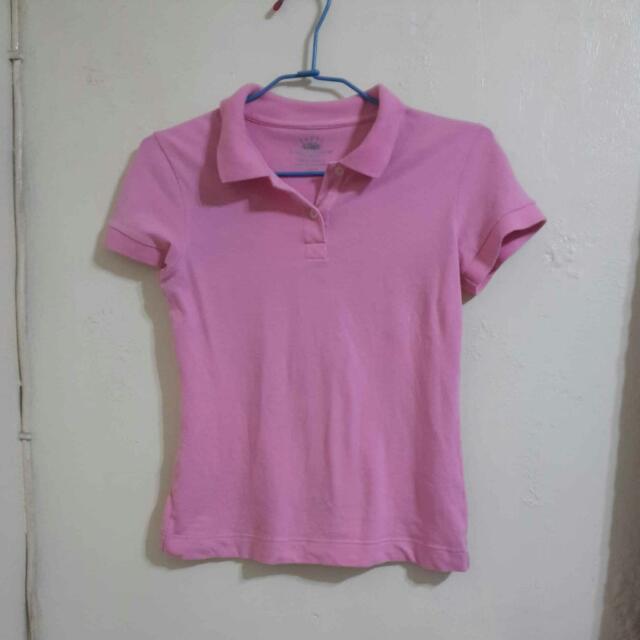 粉色POLO衫
