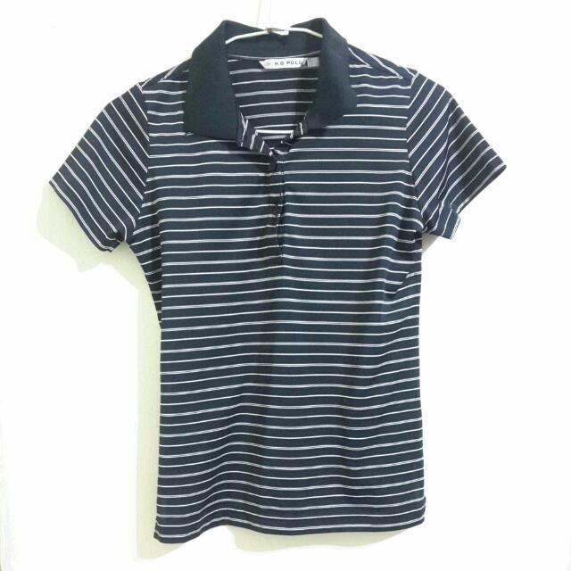 黑白條紋POLO衫