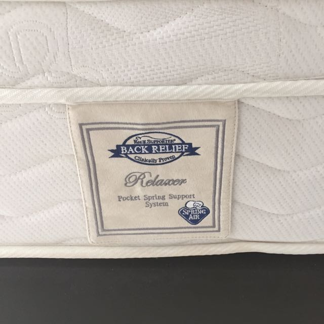 Spring Air Back Relief Mattress With Bed Frame (Queen Size)