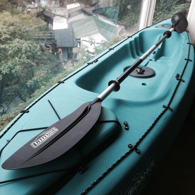 (保留中)❗️大降價❗️Wavedance墨綠皮艇.船槳