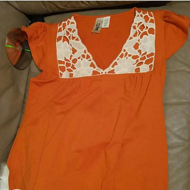 Womens Size Medium Orange
