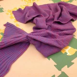 「全新」搶翻天厚針織人魚毯(紫色)現貨供應不必等