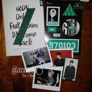 Ikon Debut Full Album Welcome Back Green Donghyuk set