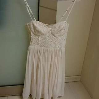 H&M Pastel Pink Bustier Pleated DRess
