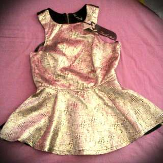 Size 10 Fresh Soul Peplum Top (With Tags)