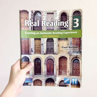醒吾科技大學 五專部 應英系 原文課本 Real Reading 3 (Lynn Bonesteel) Paul Nation (Pearson/ Longman)