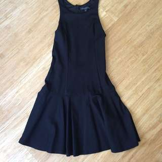 Forever new dropped waist black sleeveless dress