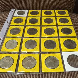 Singapore $1 Coins ( Complete Set 1967-1985 )
