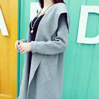 長版大衣 ♡氣質灰