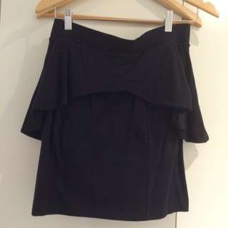 Peplum Skirt Black
