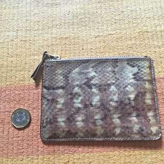Authentic Comme Des Garcons Hologram Leather Pouch