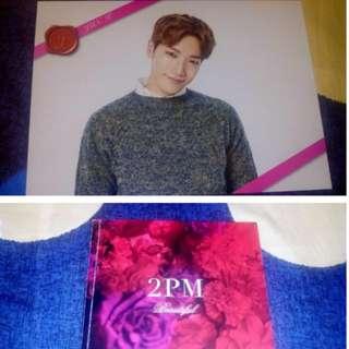 2PM Jun.k 日本官方周邊小卡+Beautiful 專輯16頁寫真