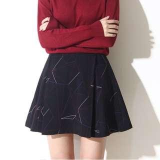 韓版設計個性A字裙| 黑、深藍